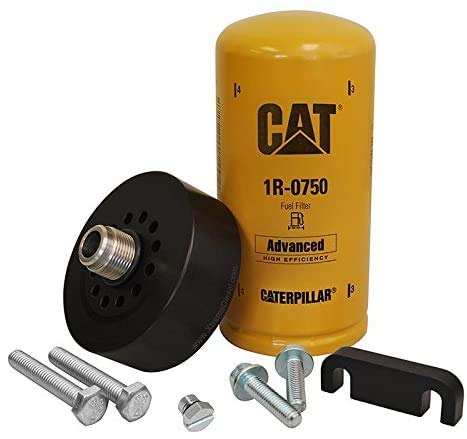 XDP Duramax CAT Adapter with 1R-0750, Bleeder Screw & Spacer