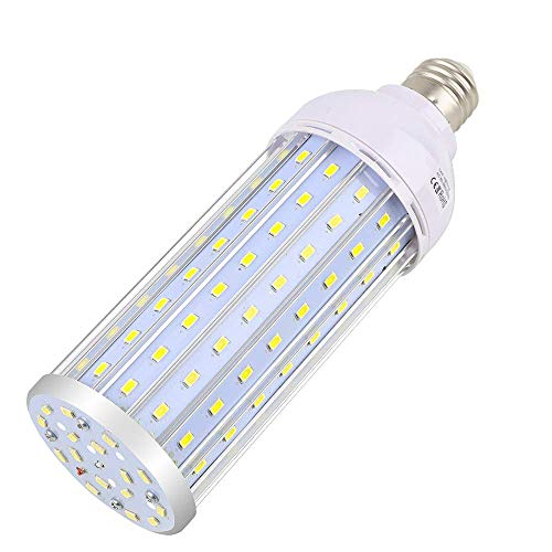 Intpro 60W LED Corn Light Bulb Lamp, 6000LM E26/E27 6000K 85V~265V Super Bright Light for Indoor Large Area, Garage barn Workshop Warehouse Factory Porch Backyard High Bay Street Outdoor