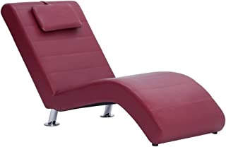 vidaXL Cislonga Imbottita Relax Ergonomica Trapuntata Chaise Lounge Sedia a Sdraio Elegante Morbida Ottomana Blu in Velluto