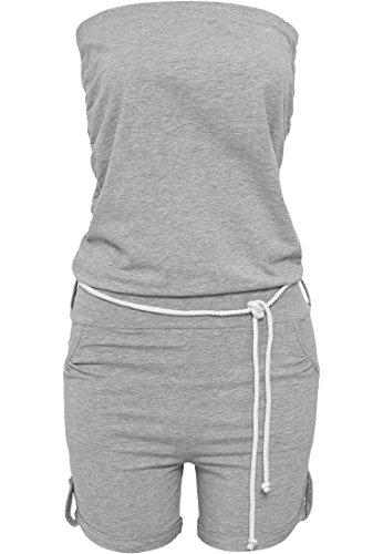 Urban Classics - Jumpsuit Ladies Hot Turnup, Salopette premaman Donna, Grigio (Grey), X-Large (Taglia Produttore: X-Large)