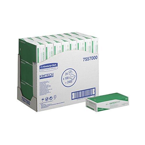 Kimtech 7557 Präzisionswischtücher, 2-lagig, 24 Kartons x 100 Wischtüchern, weiß