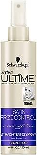 Schwarzkopf Styliste Ultime Satin Frizz Control Heat Protection Straightening Spray, 6.8 Ounce
