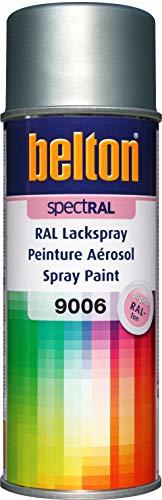 belton spectRAL Lackspray RAL 9006 weißaluminium, seidenmatt, 400 ml - Profi-Qualität