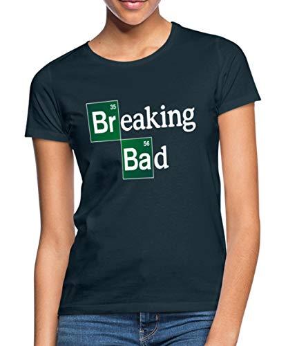 Breaking Bad Logo Brom & Barium Frauen T-Shirt, L, Navy