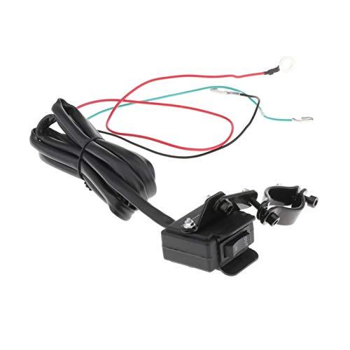 GIS El Interruptor del Pulgar del Manillar Rocker Winch Rocker de 12V ATV UTV Cabe para Todos los cabrestores con una línea de 2.5 m, fácil de Instalar