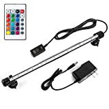 iKefe 15' Color Changing LED Fish Tank Aquarium Submersible Light with Remote/Colored Aquarium LED Tank Lights Fixture for Underwater Decorations, Plant Grow, Saltwater Freshwater Fish, KR5015