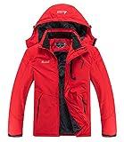 MOERDENG Men's Waterproof Ski Jacket Warm Winter Snow Coat Mountain Windbreaker Hooded Raincoat