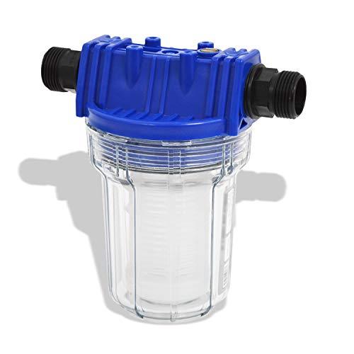 Filter Vorfilter Pumpenfilter für Hauswasserwerk Kreiselpumpe Jetpumpe Brunnenpumpe Pumpe Tauchpumpen bei Waschmaschinen, Schaltgeräten, Kreiselpumpen (Vorfilter 1L)