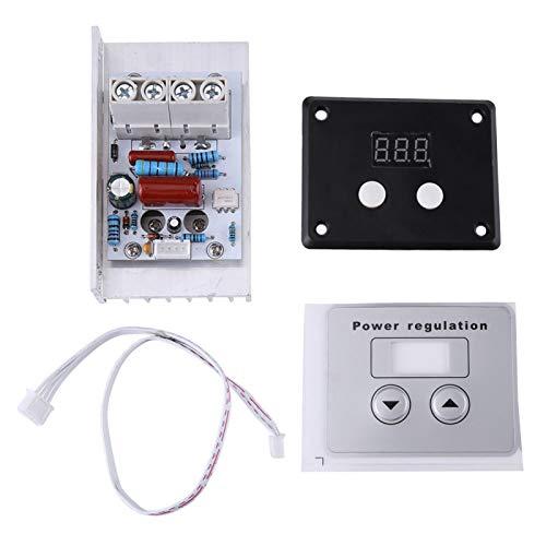 Ginorgee Controlador de Voltaje - 10000W SCR Regulador de Voltaje Digital Control de Velocidad Regulador de termostato CA 220V 80A