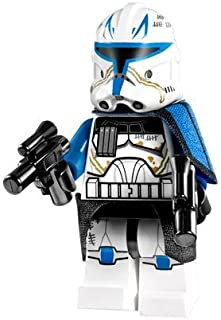 Lego Star Wars Clone Captain Rex Minifigure (2013) With Blasters From Set 75012