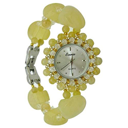 HZLY Pulsera de Topacio de Relojes señora Relojes Que Mujer Relojes de Cuarzo artesanías