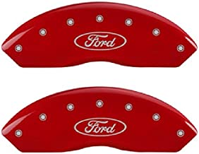 MGP Caliper Covers 10009SFRDRD Red Brake Covers Engraved with Silver Ford Oval (Set of 4 )