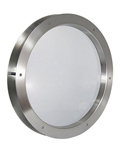 Edelstahl Bullauge TBAM-250 BS Milchglas beidseitig verschraubt Türfenster