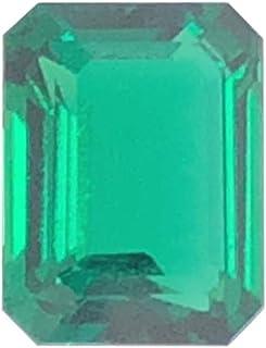 Mysticdrop 1.77-2.34 Cts of 9x7 mm AAA Emerald-Cut Russian Lab Created Emerald (1 pc) Loose Gemstone