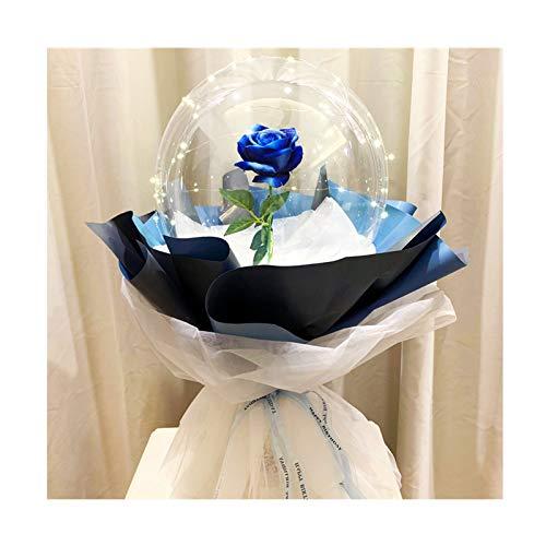 TWW Ballonblume Kleine Prinz Rose Blume DIY Material Romantische Geständnis Rose Ballon Bouquet,F