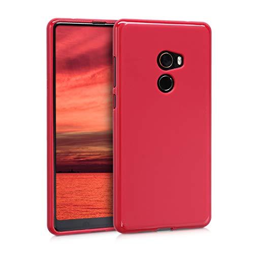 kwmobile Cover Compatibile con Xiaomi Mi Mix 2 - Cover Custodia in Silicone TPU - Backcover Protezione Posteriore- Rosso Matt
