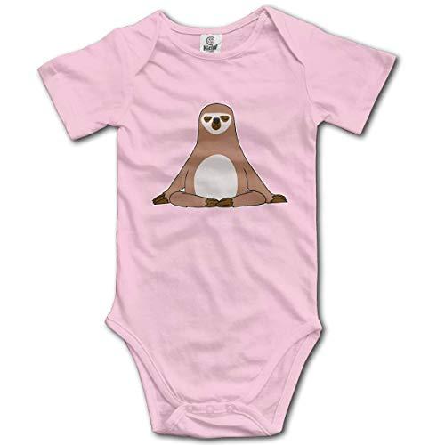 Lplpol Buddha Sloth Cotton Baby Onesies Bodysuit Jumpsuit for Unisex Baby Boys Girls, 9-12 Months, GK893