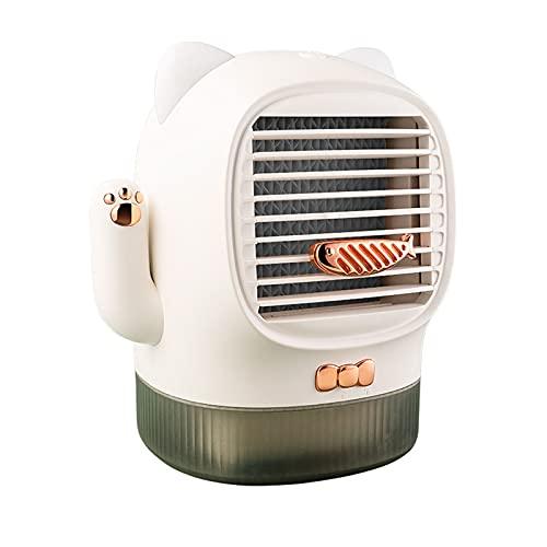 Aire acondicionado portatil silencioso,2021 Nuevo mini ventilador portátil de aire acondicionado de refrigeración de escritorio para el hogar + Aceite esencial enfriador de aire 10ml