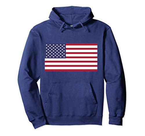 Bandera Americana USA Patriótica Hombres Mujeres Niños Sudadera con Capucha