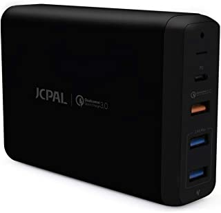 JCPal ELEX USB-C PD Multiport Desktop Charger,Black