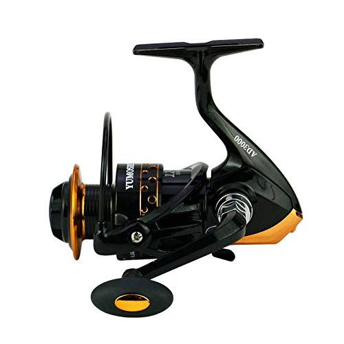 Spinning Fishing Reels for Freshwater Ultra Smooth Carp Gear Stainless Ball Bearings Metal Body AD3000 Model