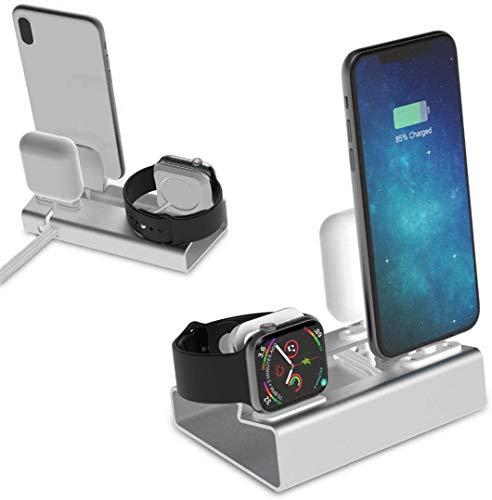 OH Aluminio 3In 1 Dock de Carga Fit para Iphone X Xr Xs Max 8 7 6 Soporte de Cargador de Airpods para I Mount Stand Dock Station Disipación de calor rápido