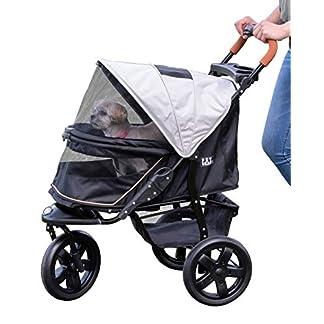 Pet Gear AT3 No-Zip Pet Stroller, Summit Grey 18