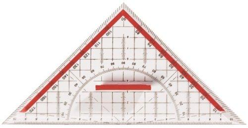 10x Geo-Dreieck Geometriedreieck mit Griff groß