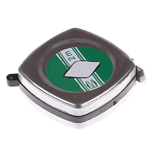 Cinta Portátil Cinta del Regla Retráctil 2 Metros Mini Metal Puller Puller Cintura Cinta Métrica