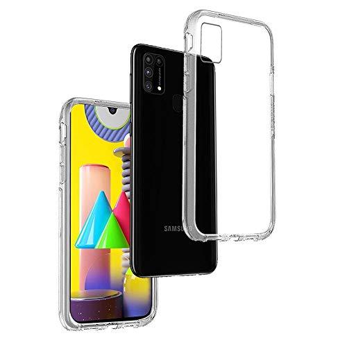 REY - Funda Carcasa Gel Transparente para Samsung Galaxy M31s, Ultra Fina 0,33mm, Silicona TPU de Alta Resistencia y Flexibilidad
