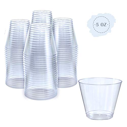 Small Clear Plastic Cups | 5 oz. 100 Pack
