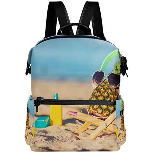 Sweet grape Divertida mochila para gafas de sol de piña, playa, mar, escuela, bolsa de viaje, senderismo, camping, portátil, mochila