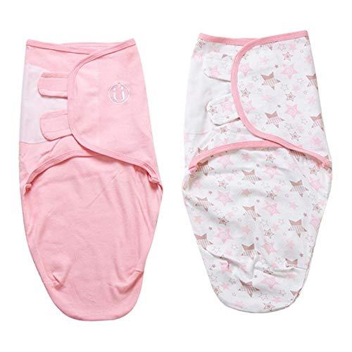 perfeclan 2 Unidades Saco de Dormir Suave y Cómodo Tipo Capullo, Perfecto para que su Bebé se Duerma Profundamente - Star Moon, L