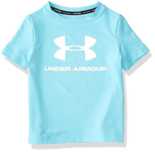 Under Armour UA Big Logo Surf Shirt Camisa de protección de Sarpullido, Surfs hasta Sp20, L para Niños