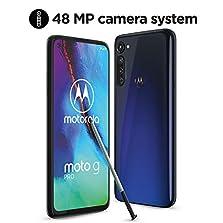 "moto g pro Dual-SIM Smartphone (6,4""-Max Vision-FHD-Display ohne Notch, 48-MP-Dreifach-Kamerasystem, 128 GB/4 GB, Android 10) Blau inkl. Schutzcover + Stylus [Exklusiv bei Amazon]©Amazon"