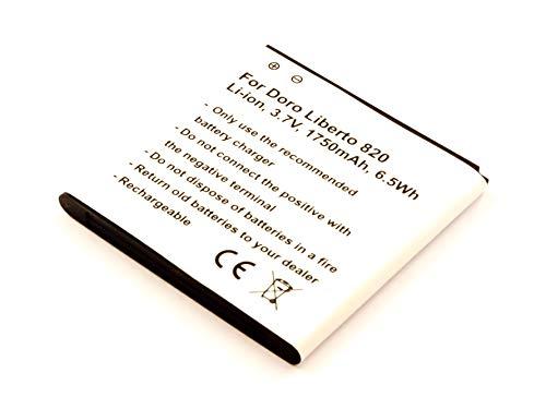 Akkuversum Akku kompatibel mit Doro Liberto 820, Handy/Smartphone Li-Ion Batterie