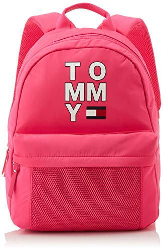 Tommy Hilfiger - Th Kids Backpack, Bolso Unisex Niños, Rosa (Pink Glo), 12x39x30 cm (W x H L)