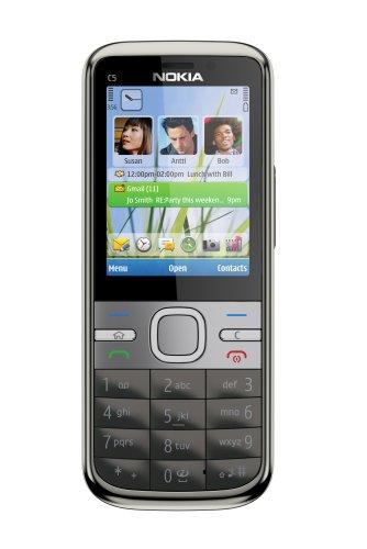 Nokia C5-00, 5MP , 1GHz, Handy, warm grey EU ohne Simlock, ohne Branding, ohne Vertra