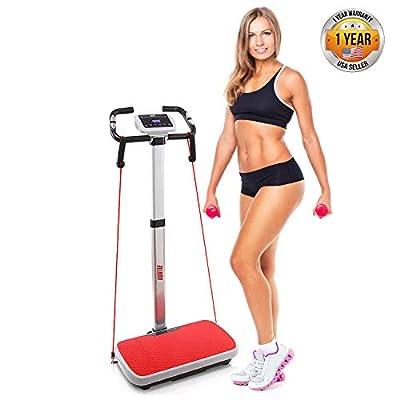 Hurtle Vibration Platform Fitness Machine - Full Body Exercise - Adjustable Time Speed Level