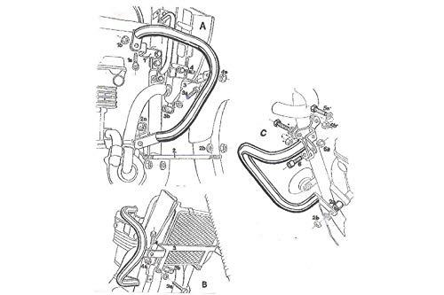 Motorize-HEPCO & BECKER KLE 500 Engine Protection Bar