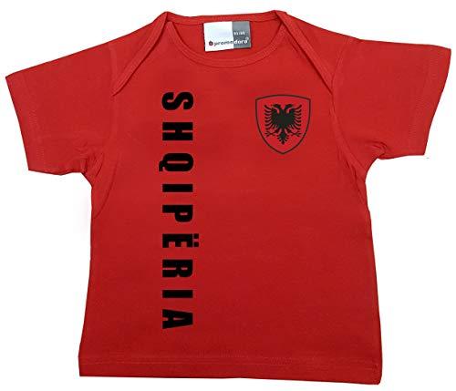 aprom Albanien Baby T-Shirt - Trikot - WM EM No.1 R ALB (80/86)
