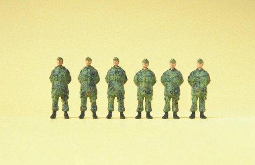 Preiser 1/87th–pr16842–Modelleisenbahnen–Soldat stehend mit Cap