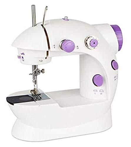 YESSW Máquina de Coser eléctrica, Mini Máquina de Coser, Máquina de Coser portátiles para el hogar, con luz LED + Spools + Pedal