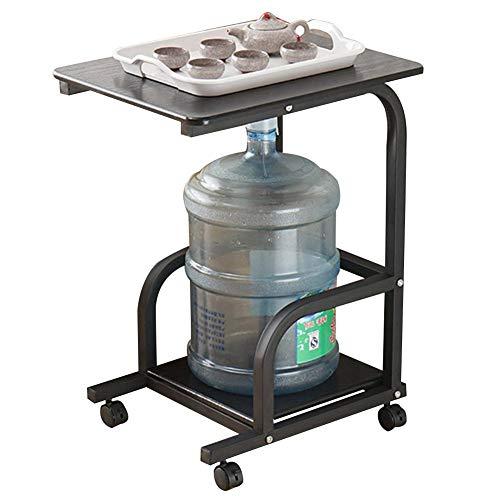 ZND Eenvoudig Idee Laptop Stand voor Bureau Multifunctionele Draagbare Water Dispenser Rack Plank Sofa bijzettafel met Pulley, 2 Laag, 3 Kleuren (Kleur: 2#, Afmeting: 50X40X66Cm), 1#, 50x40x66CM