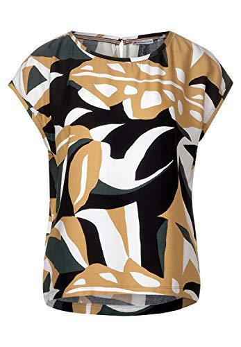Street One Damen 341983 Blusenshirt mit Muster Bluse, Comfort Green, 40
