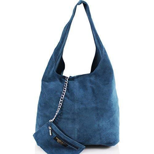 416124b4023a Genuine ITALIAN SUEDE LEATHER Very Large Slouch Hobo Shoulder Handbag Bag  DV2