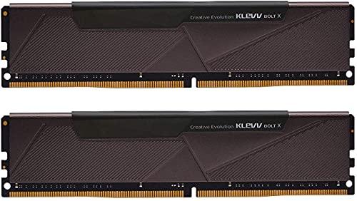 KLEVV Bolt X 32GB kit (16GB x 2) 3200MHz Mémoire RAM Gaming DDR4-RAM XMP 2.0 Non-RVB Haute Performance Surcadençage