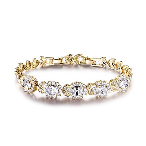 """GULICX Bracelet Femme """"Fleur De Diana Princess"""" Plaqué..."""