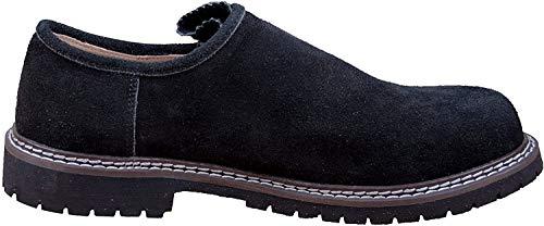 Almwerk Herren Trachtenschuh aus echtem Leder, Schuhgröße:EUR 43, Farbe:Schwarz