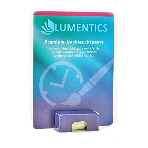 lumentics Premium Leuchtpaste - Im Dunkeln phosphoreszierende Uhrenfarbe. Leuchtende Zeigerfarbe. Selbstleuchtende UV-Bastelfarbe, Glow (Gelb/Grün)